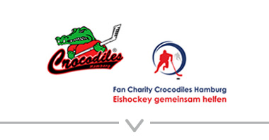 Button: Logo Crocodiles Hamburg e.V. – Eishockeysport