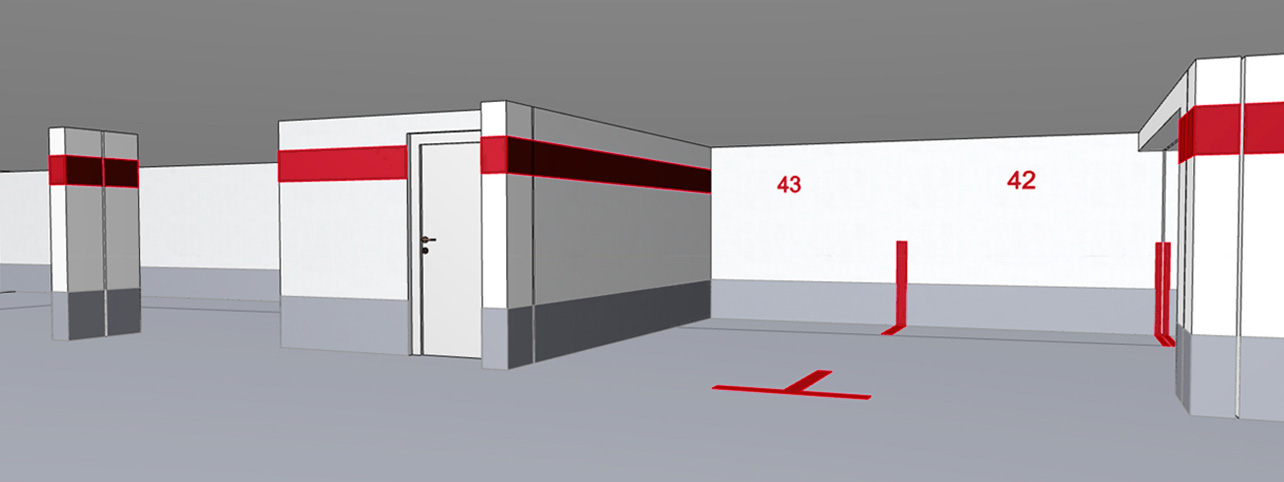3D-Visualisierung eines Parkraums