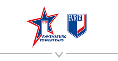 Button: Logo Ravensburg Towerstars – Eishockeysport
