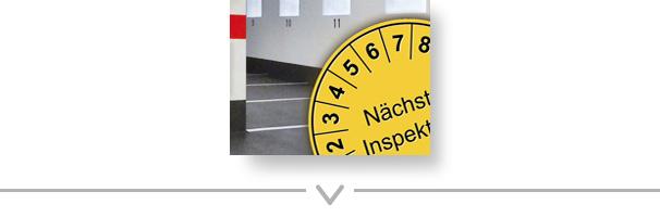 Button: Gewarteter Parkraum mit Prüfplakette